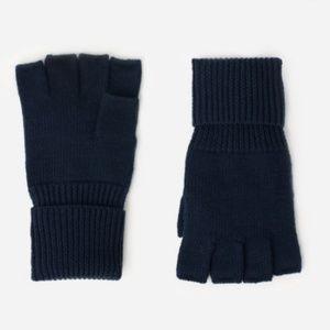 Everlane Merino Wool Fingerless Glove in Navy